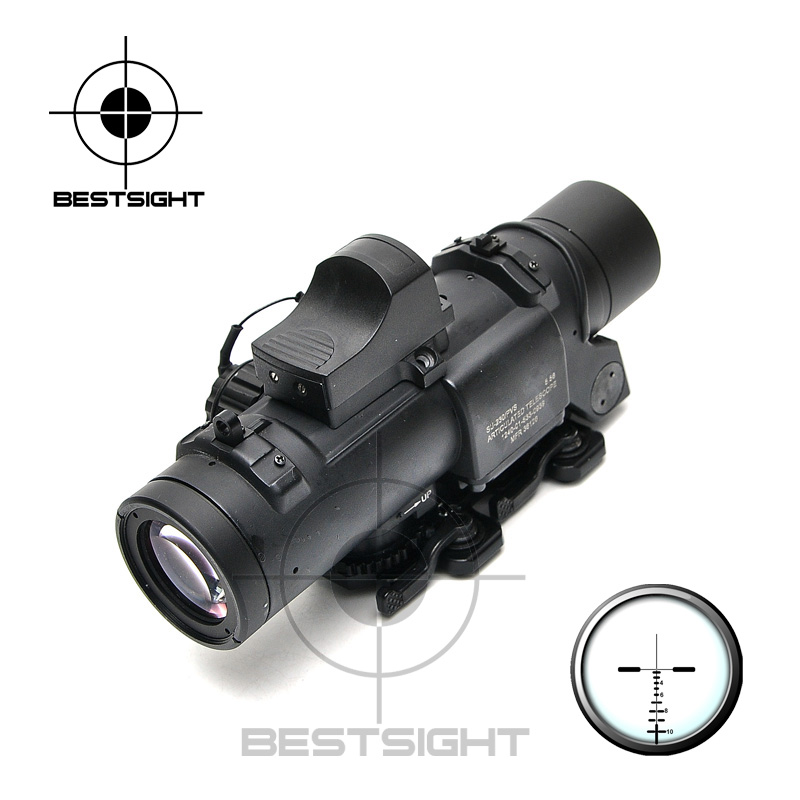 Shooting Tactical Rifle <font><b>Scope</b></font> <font><b>1X</b></font>-<font><b>4X</b></font> Optic Sight Rifle Airsoft magnificate <font><b>Scope</b></font> For Hunting <font><b>scope</b></font> with mini red dot image