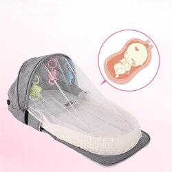 Baby Travel przenośne mobilne łóżeczko łóżeczko dziecięce łóżeczko noworodka wielofunkcyjne łóżko składane dziecko krzesło składane z zabawkami moskitiera