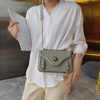 2018 new Korean version slanted women's bag fashion single shoulder square bag