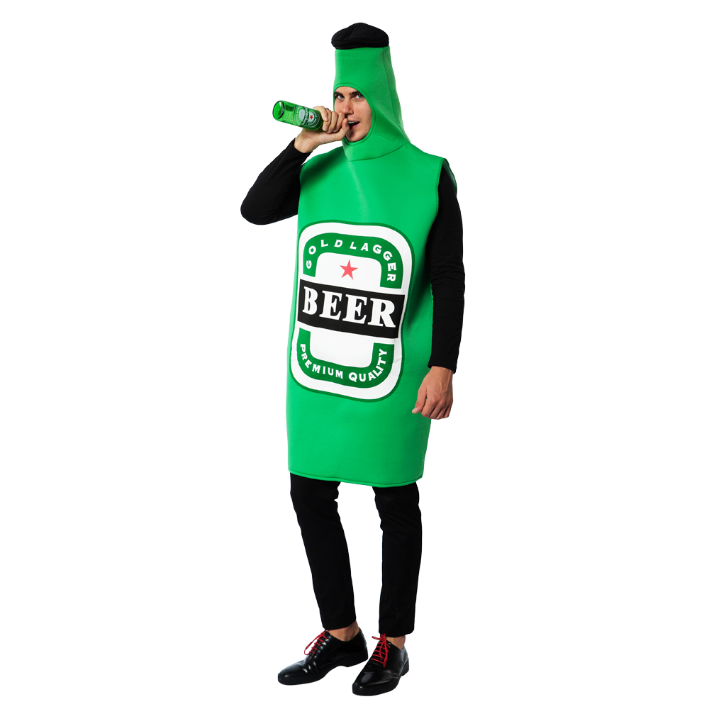 Snailify Halloween Costume For Adult Men Beer Bottle Costume Oktoberfest Outfit Carnival Party Wear