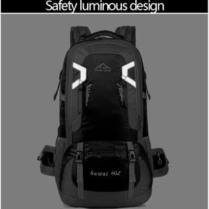 Image 2 - 60L עמיד למים יוניסקס גברים תרמיל נסיעות חבילת ספורט תיק חיצוני חבילת טיפוס הרים טיולי קמפינג תרמיל לזכר