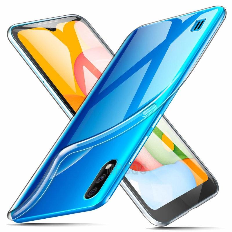 Full-Body Protective Phone Case Cover For Samsung Galaxy A01 2019 Soft TPU Silicon Transparent SamsungA01 Galaxy-A01 Coque Funda