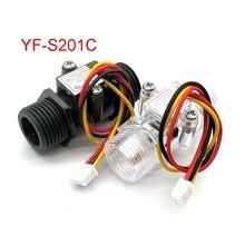 Débitmètre deau débitmètre Hall capteur de débit indicateur compteur Caudalimetro G1/2 0.5 25L/min 1.2MPa F = 6 * Q capteur de débit