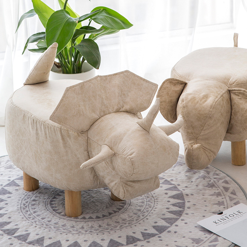 Stool Fashion Creative Animal Shoes Bench Bench Home Footstool Stool Small Wooden Stool Cute Creative Sofa Stool