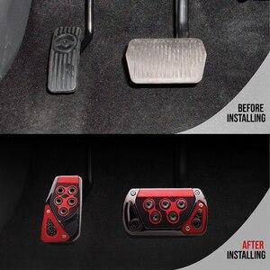 Image 5 - Araba gaz yakıt gaz debriyaj pedalı ABS ayak istirahat Pedal pedi kapağı oto iç aksesuarları evrensel otomatik