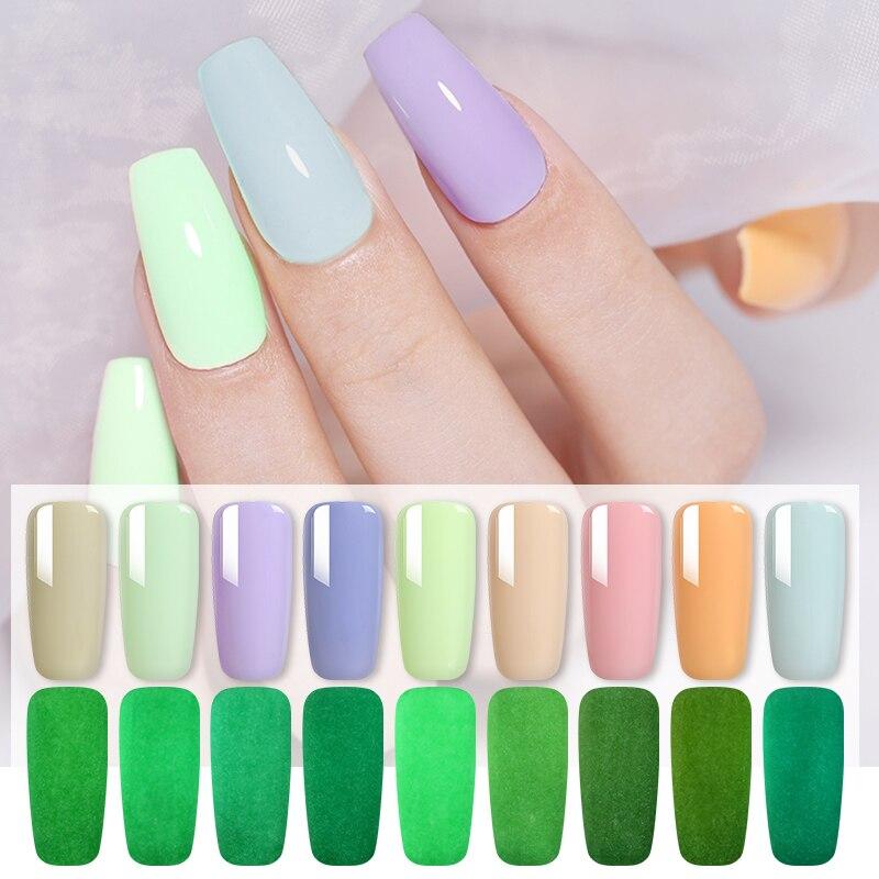 1 Bottle 8ml 9 Colors MAD DOLL Luminous Gel Colorful Soak Off Gel Polish UV Nail Gel Summer Theme Nail Art Gel Varnish