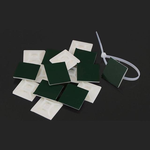 Starken Klebstoff Gesichert Halterungen Kabelbinder Halterungen Draht Krawatte Basis Halter Schraube-Loch Anker Punkt Bietet Optimale Festigkeit für lange