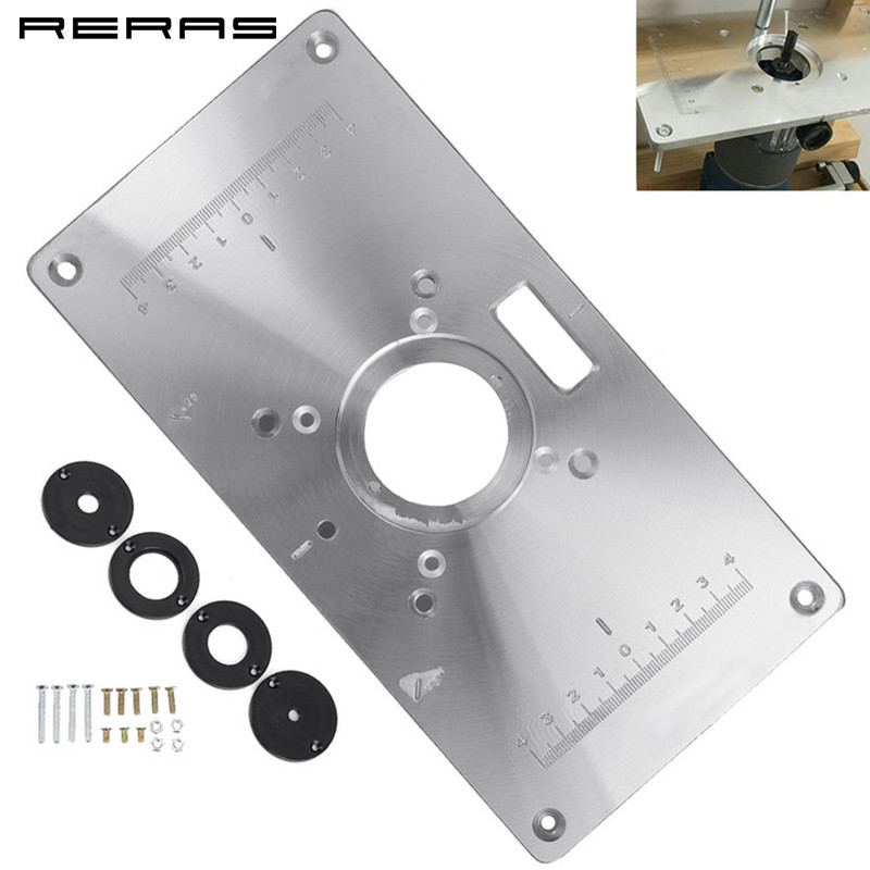 Woodworking Aluminum Alloy Router Table Insert Plate Mounting Base Plate For Makita 700C