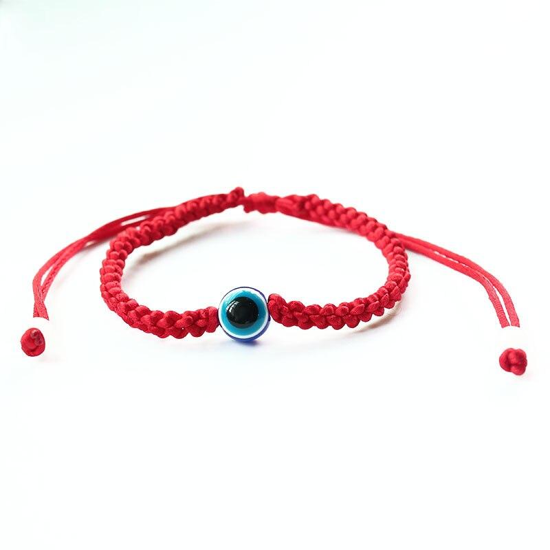 Baby Red String Bracelet Red Glass Evil Eye Good Luck Charm