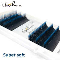 NATUHANA 6rows Individual Ombre Color Faux Mink Eyelash Extension Gradient Color Eyelashes False Lashes for Makeup tools