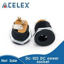 10 pces DC-022 5.5-2.1/5.5x2.1mm dc tomada de alimentação/conector dc montagem do painel dc022