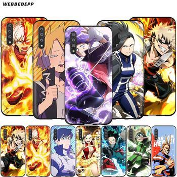 Webbedepp mi héroe Academia caso para Samsung Galaxy A3 A5 A6 más A7 A8 A9 J6 M20 A10S A20S A30S A40S A50S