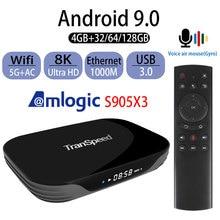 Android 9.0 Transpeed Tv Box Amlogic S905X3 X3 Air 8K 4K 4 Gb 32 Gb 64 Gb Ultra hdr Wifi Tv Box