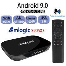 ТВ приставка Transpeed на Android 9,0, Amlogic S905X3 X3 AIR 8K 4K 4 ГБ 32 ГБ 64 Гб Ultra HDR Wi Fi