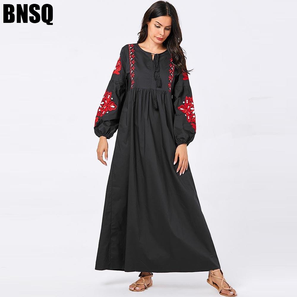 BNSQ Dubai Abaya For Women Hijab Evening Dress Arabic Caftan Morocain Kaftan Djelaba Femme Muslim Dress Islamic Clothing