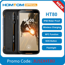 HOMTOM HT80 IP68 Waterproof Smartphone 4G LTE Android 10 5.5inch 18:9 HD+ MT6737 Quad Core NFC Wirel