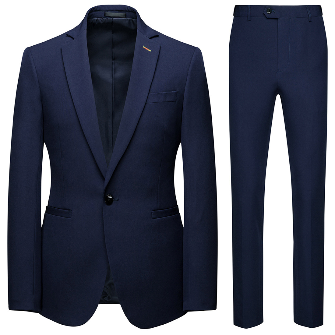 Boutique 2019 New Style Business Leisure Suit 2 Pieces Groom Best Man Wedding One-Button Suit Set Xf116