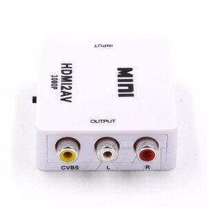 Image 4 - Hdmi Naar Av Scaler Adapter Hd Video Composiet Converter Box Hdmi Naar Rca Av/Cvsb L/R Video 1080P Mini HDMI2AV Ondersteuning Ntsc Pal Nieuwe