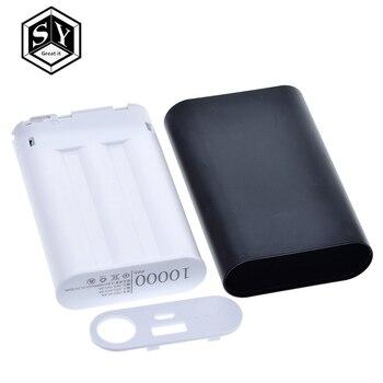 Caja de aluminio del Banco de la energía de 10000mah Kit de cargador de batería de 3x18650 caja Diy para la carga móvil electrónica del teléfono inteligente MP3