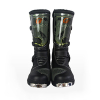 Motorcycle Waterproof Pu Leather METAIL gear boots Professional SPEED Racing shoes botas Motorbike Chopper Scooter Street Boots