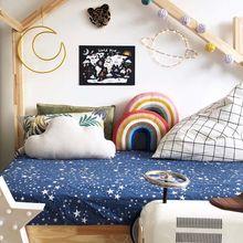 INS, нордическая Радужная подушка для дивана, детские наборы, подголовник, детская комната, игрушки, украшение, красочная милая подушка для комнаты