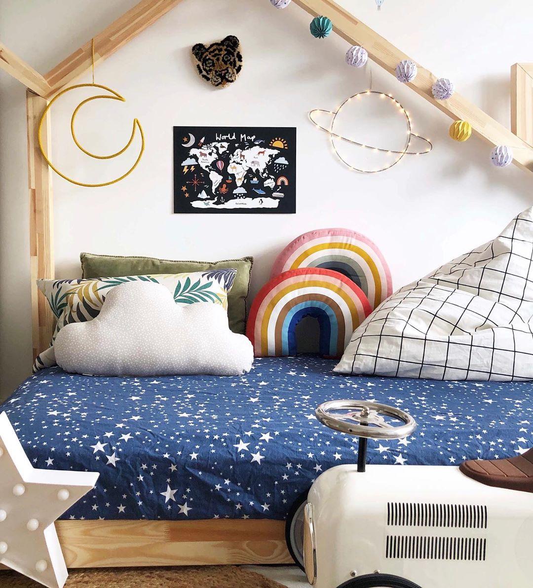INS nordique arc-en-ciel traversin canapé oreiller bébé ensembles appuie-tête chambre d'enfants jouets décoration coloré belle chambre coussin