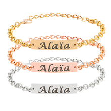 Name-Bracelet Jewelry Gift Stainless-Steel Baby New-Born Bangle Link Adjustable Personalize