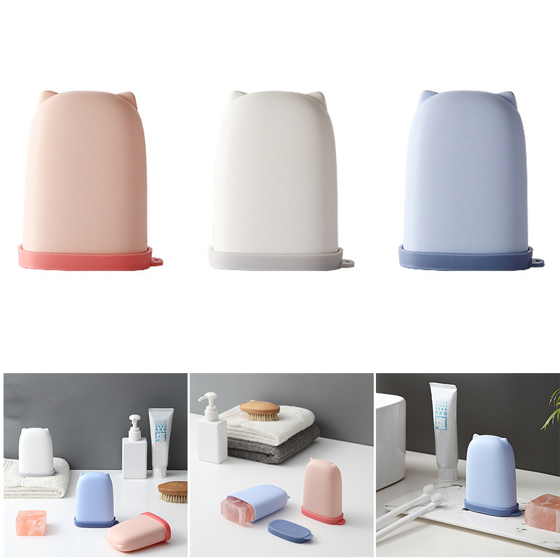 Portable Small Soap Box Sealed And Leak-Proof Personal Care Travel Supplies Soap Box Travel Essential EIG88