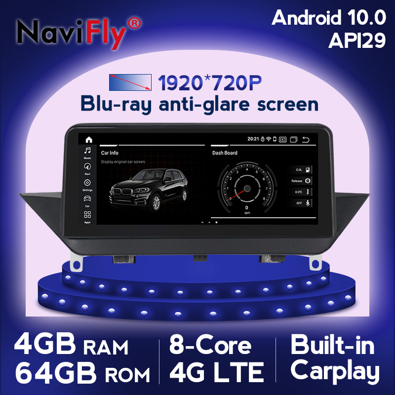 Автомагнитола на Android 10, 8 ядер, GPS-навигация для BMW X1 E84 2009 2010 2012 2013 2014 2015, поддержка iDrive SWC, dvd, мультимедийный плеер
