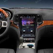 טסלה סגנון אנדרואיד 9.0 128GB רכב רדיו GPS ניווט עבור ג יפ גרנד צ רוקי 2010   2019 אוטומטי מולטימדיה נגן סטריאו Carplay