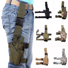 Tactical Holster Leggings Belt Set Right Drop Leg Army Pistol Gun Thigh Holster Pouch Holder Glock Hunting Accessory Military tactical gun carry military combat sig sauer p226 pistol leg holster hunting equipment right hand pistol thigh holster 3 colors