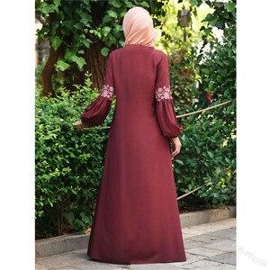 Image 5 - ドバイアバヤトルコバングラデシュ女性アバヤjilbabファムmusulmanムスリムアバヤドレスイスラム服カフタンmarocainカフタン