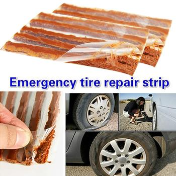 10Pcs Tubeless Tire Repair Strips Stiring Glue for Tyre Puncture Emergency Car Motorcycle Bike Tyre Repairing Rubber Strips image