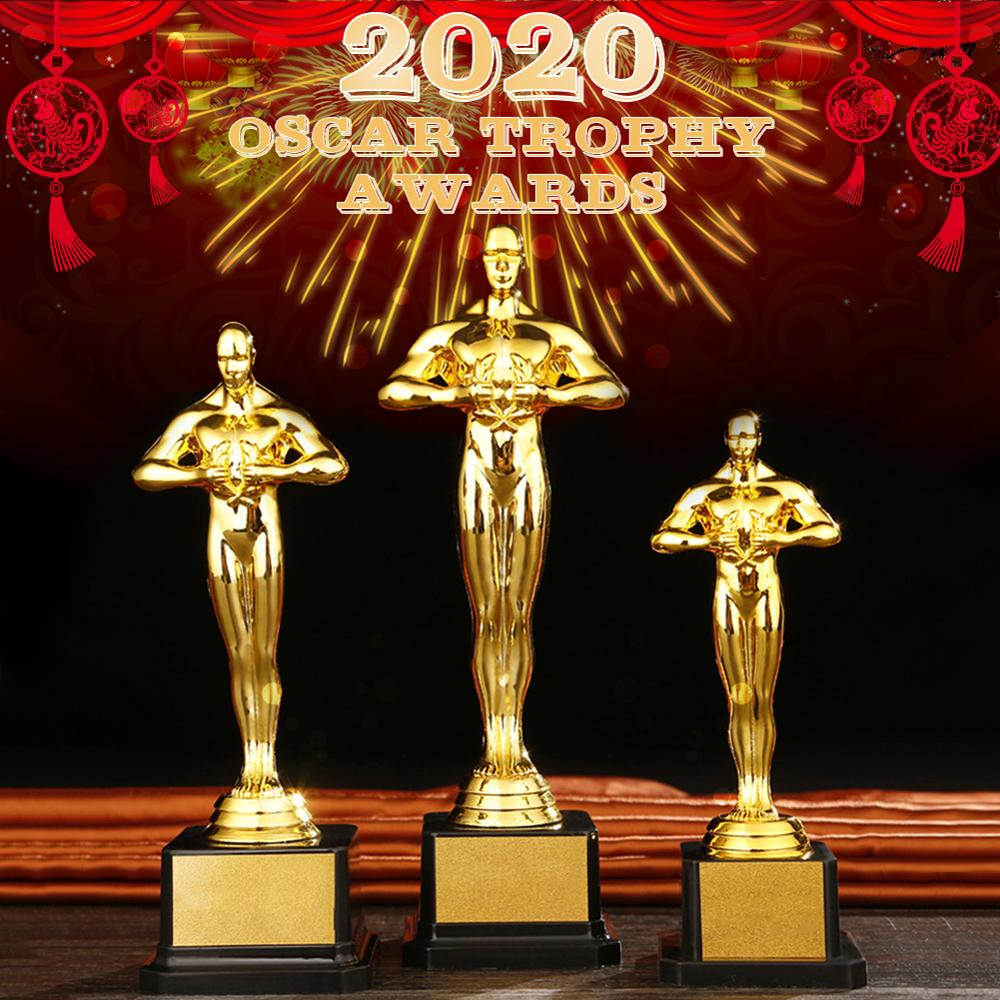 Oscar Trophy Awards Replica Small Gold Pc Man Gold-plated Team Sport Competition Crafts Souvenirs Party Celebrations Gift