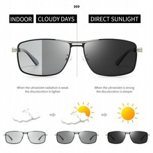 Night Vision Polarized Rays Men Sunglasses Color Changing Da