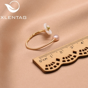 Image 5 - Xlentag pérola de água doce concha natural flor branca para as mulheres anel melhor amigo casamento presente noivado jóias finas gr0247