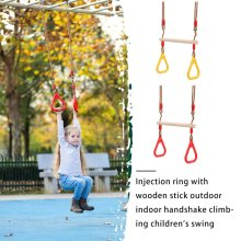 Swing Rings Game-Toys Trapeze Wood Adult Outdoor Chhildren Sport Kids Plastic with Funny