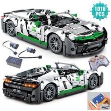 Zaawansowany technologicznie ekspert słynny Super prędkość wyścigi samochodowe klocki budowlane Model pojazdu sportowego cegły zabawki prezent urodzinowy dla dzieci