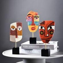 Современные поделки из смолы, абстрактное художественное украшение для лица, креативное украшение для гостиной, винного шкафа, аксессуары ...