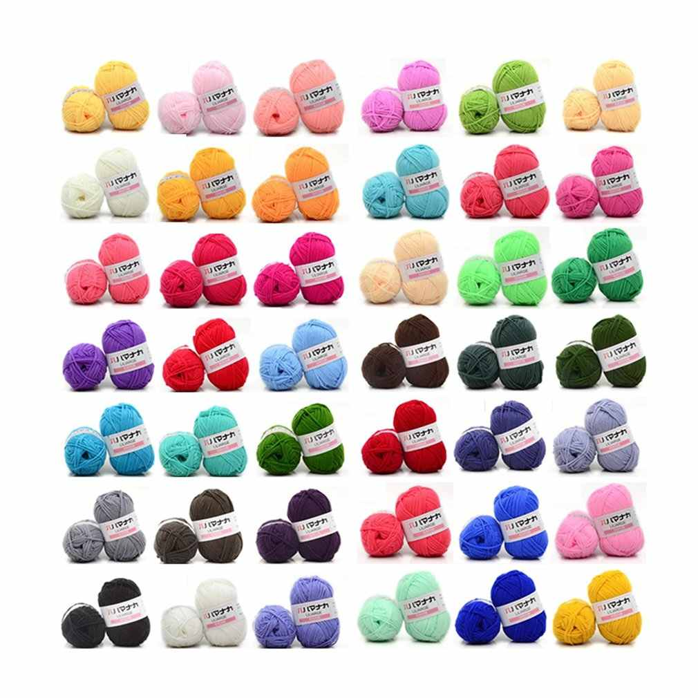 Retail 25g/ball Colorful 4# Combed Soft Baby Milk Cotton Yarn Fiber Velvet Yarn Hand Knitting Wool Crochet Yarn DIY SweaterJK476