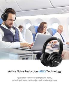 Image 2 - Mpow auriculares inalámbricos H18 con Bluetooth, dispositivo con cancelación activa de ruido, rango de 17m/56 pies y 50 horas de autonomía