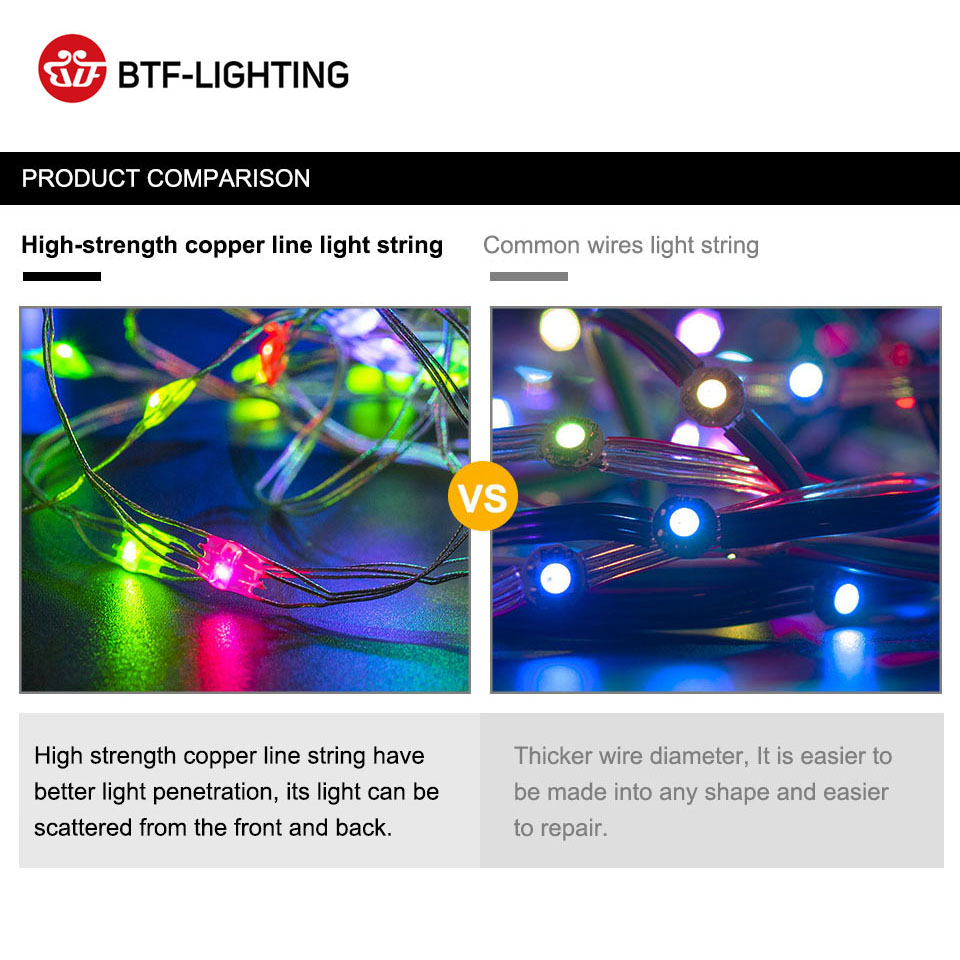 Image 5 - 50pcs/string WS2812B RGB LED Module WS2812 IC LED Module 5 6m String Music Controller Individual Addressable 4 Color Wires DC5V-in LED Modules from Lights & Lighting