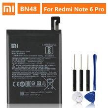 Оригинальная запасная батарея для Xiaomi Redmi Note 6 Pro Note6 Pro BN48, настоящая батарея для телефона 4000 мАч