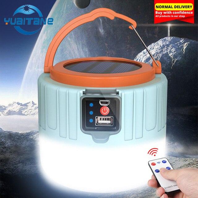 280W Newest Camping Light Solar Outdoor USB Charging 3 Mode tent Lamp Portable Lantern Night Emergency bulb Flashlight For BBQ 1