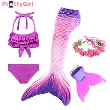 2021 Summer Mermaid Tail Dress for Girls Comfortable Mermaid Costume Mermaid Princess Pool Party Swimsuit Copslay Beach Wear