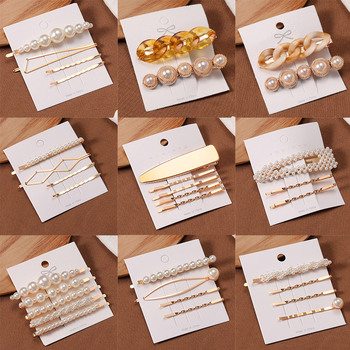 Korea Style Fashion Pearl Hair clip for Women Romantic Female Jewelry  Hairpin 2021 Accessories Hair Stick Barrettes Wholesale 5