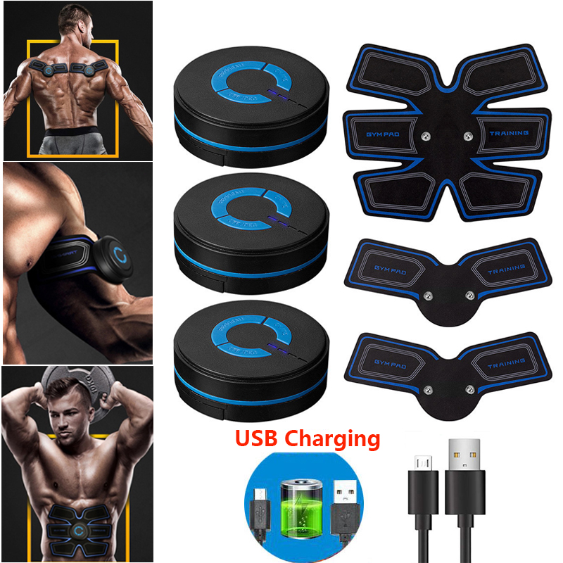 ABS EMS Electrostimulation Muscle Stimulator Abdominal Trainer Toner Home Gym Belly Arm Leg USB Rechargeable Fitness Workout image