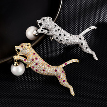 High-end brooches for women enamel pin Fashion Jewelry hijab pins Dress coat Accessories women gifts Crystal Leopard brooch pins brooches for women hijab pins fashion jewelry cc brooch gifts for women high end wedding brooch dress accessories enamel pins