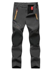 Trousers Outdoor-Pants Oversized Soft-Shell Fish-Trekking Travel-Training Climb Winter Fleece