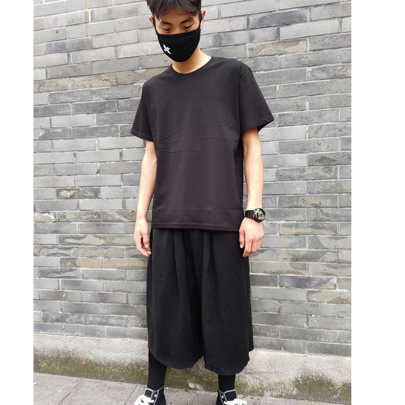 Shorts summer large loose dark wide Casual Pants Capris Yamamoto skirt pants style leg pants for men and women